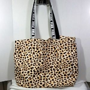 Nwot PINK leopard tote